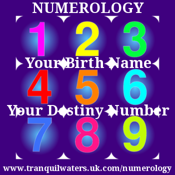 Numerology - Calculate YOUR Destiny Number from your birth name