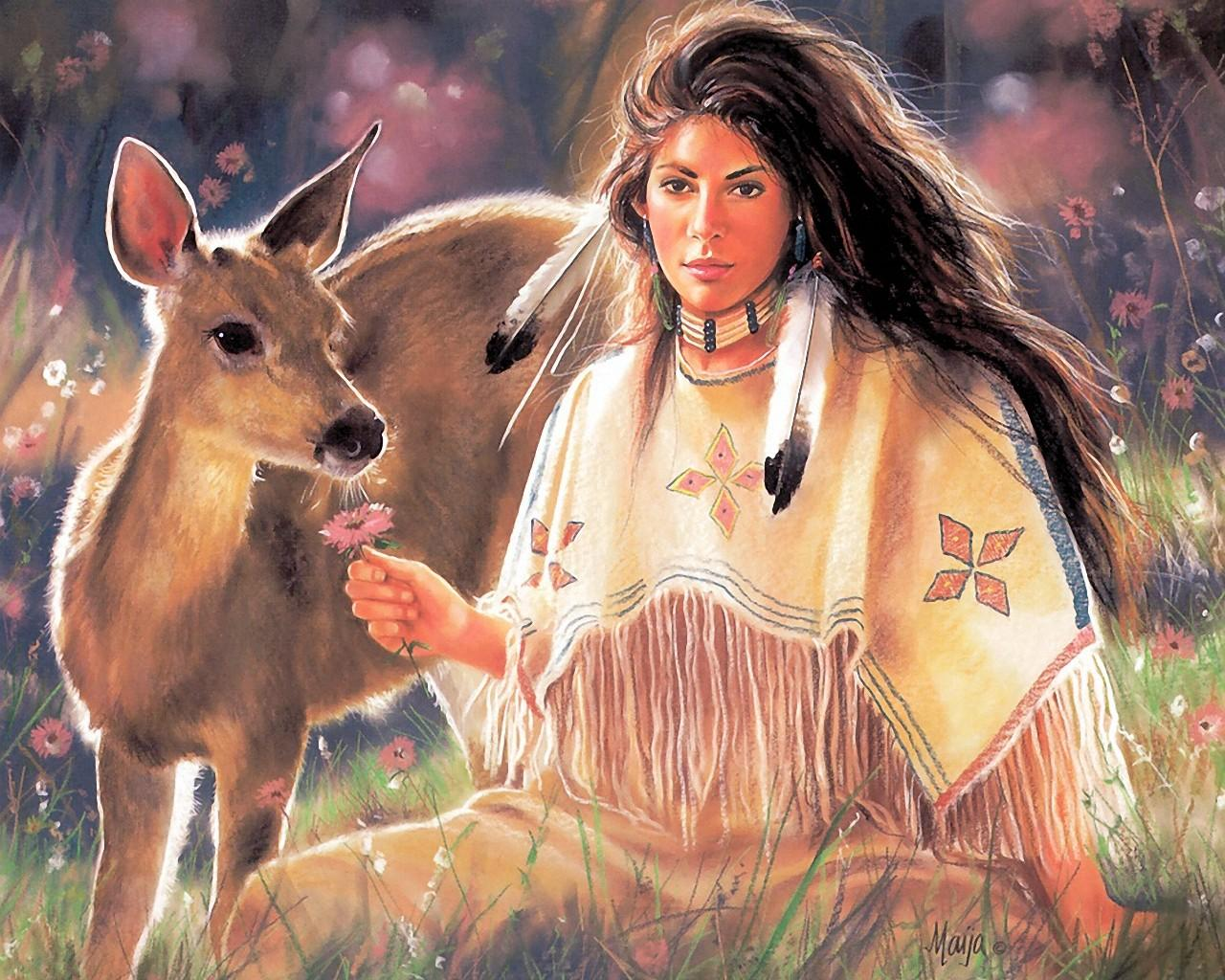 Remarkable, very Native american women fantasy art